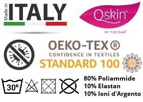 mascherina protettiva Q-SKIN 100 OEKO TEX
